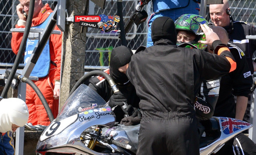 IOM TT RST Superbike Race - Cameron Donald was happy to meet the target of a top twenty finish and made up some good time in the pit stops.