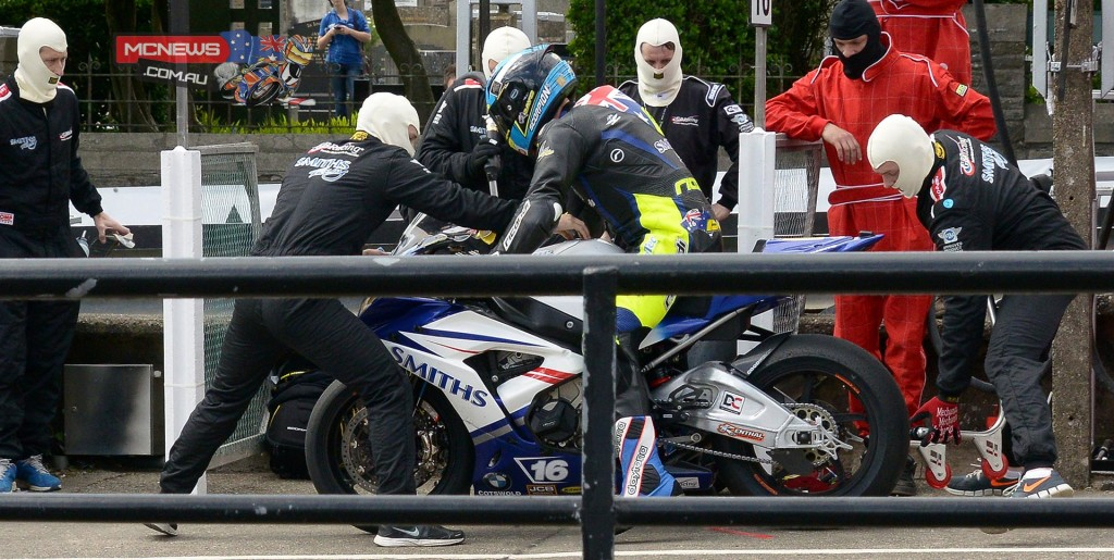 IOM TT RST Superbike Race - David Johnson finished tenth