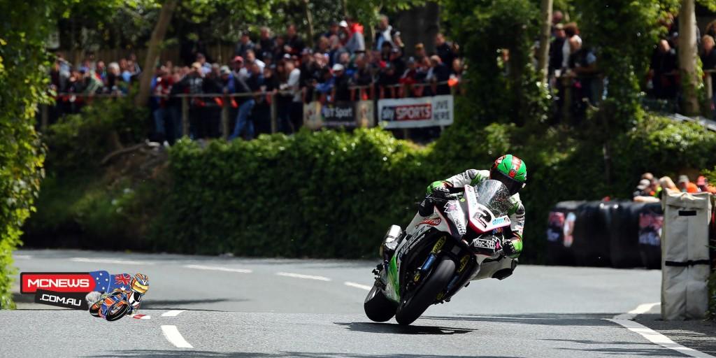 James Hillier at Union Mills. The Kawasaki rider took third, his first ever Superbike TT podium.