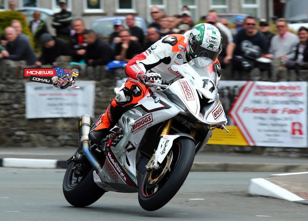 IOM TT RST Superbike Race - Peter Hickman at St Ninians Crossroads