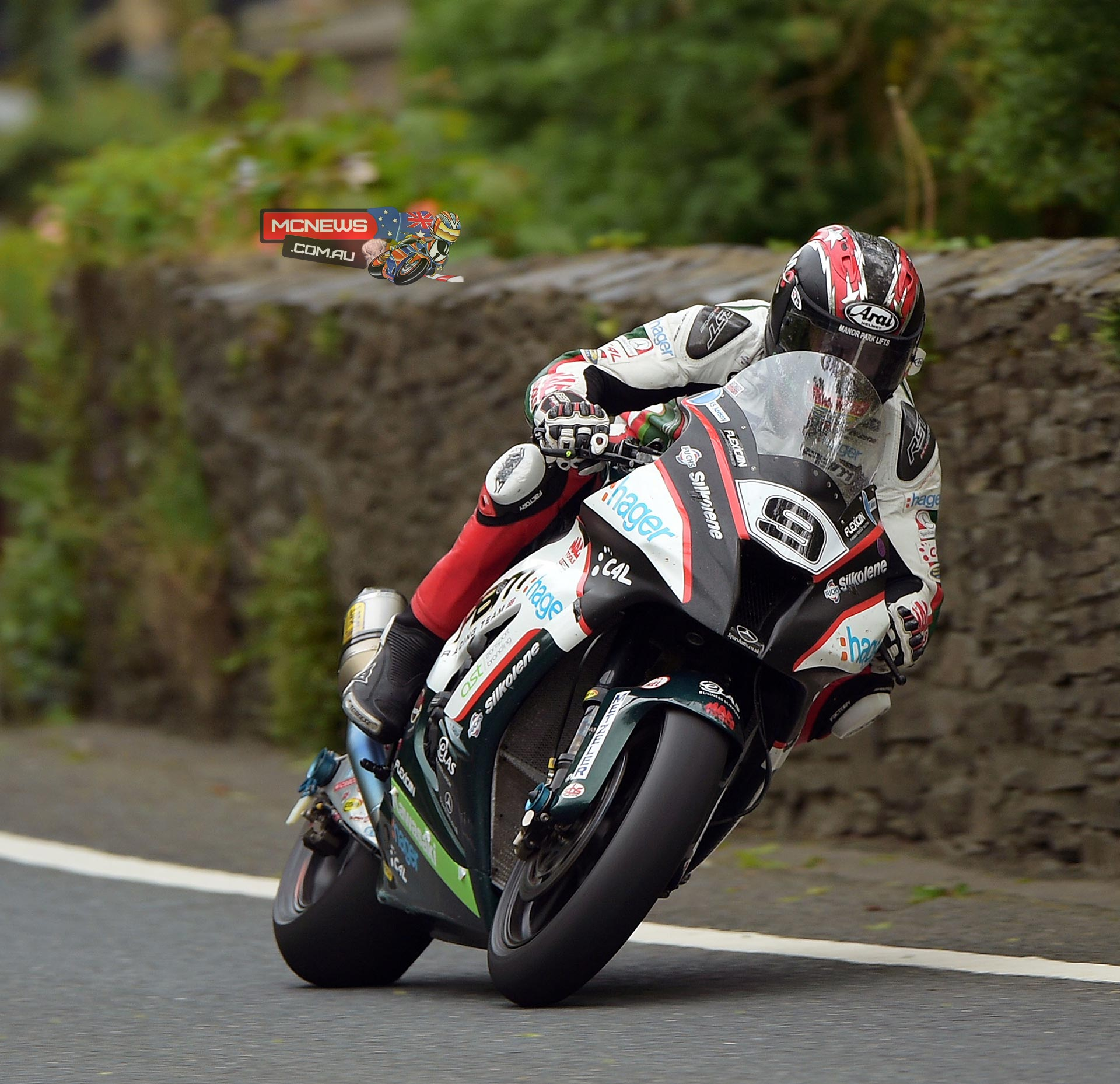 Ian Hutchinson heads the Superbike field and was first to break the 130mph barrier at TT 2015 on his second lap with a speed of 130.266.