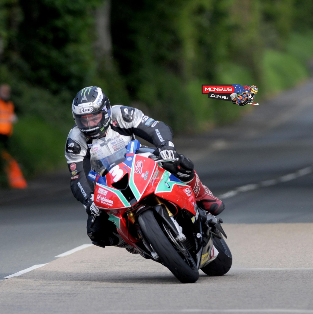 After sensationally walking out on Milwaukee Yamaha Michael Dunlop tops Superstock with a 129.659
