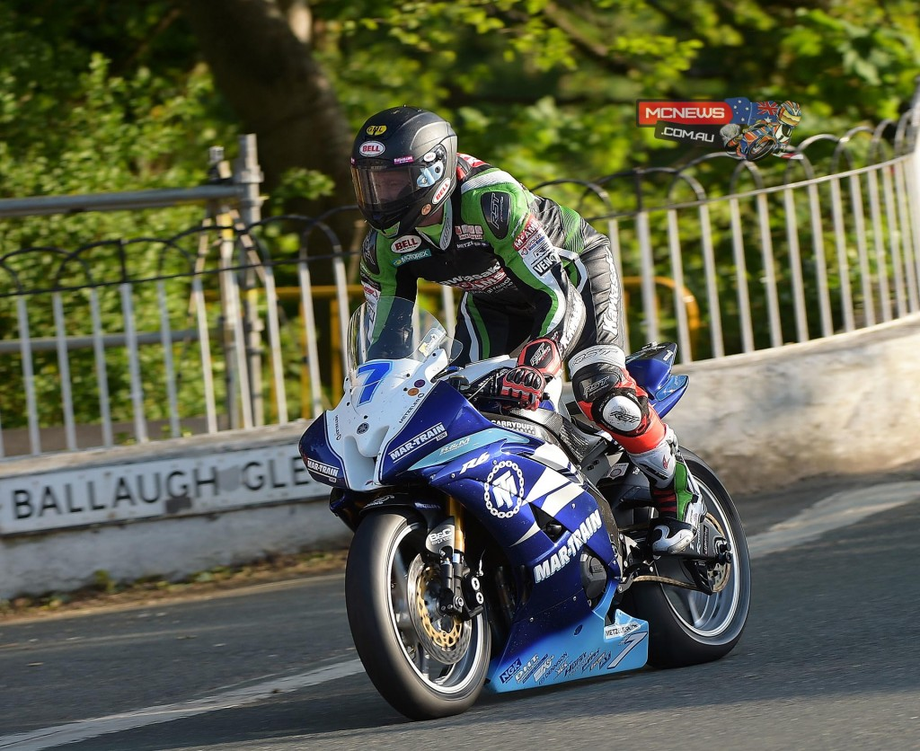 Gary Johnson topped Supersport during Thursday qualifying at the 2015 IOM TT