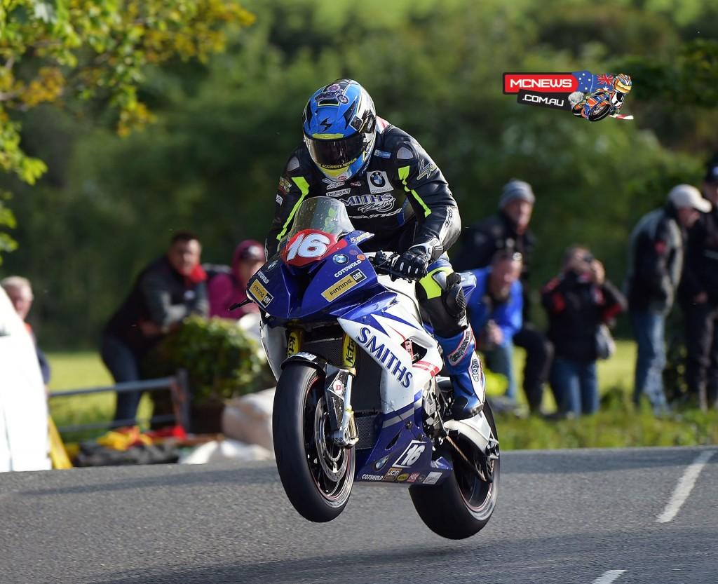 Isle of Man TT 2015 - Practice - David Johnson - BMW Superstock