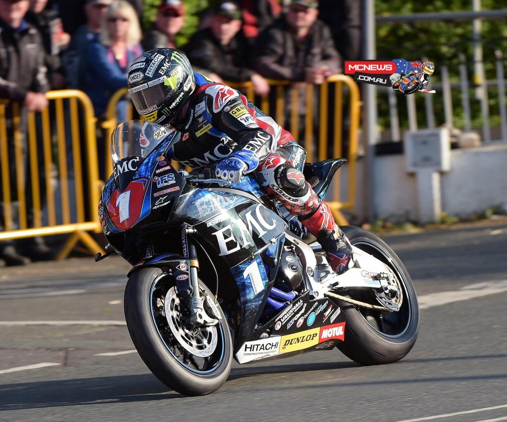 John McGuinness on his own Superstock Honda Fireblade
