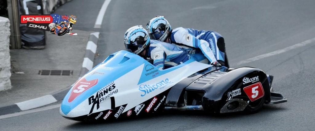 Isle of Man TT 2015 - Practice - John Holden and Dan Sayle- Sidecars