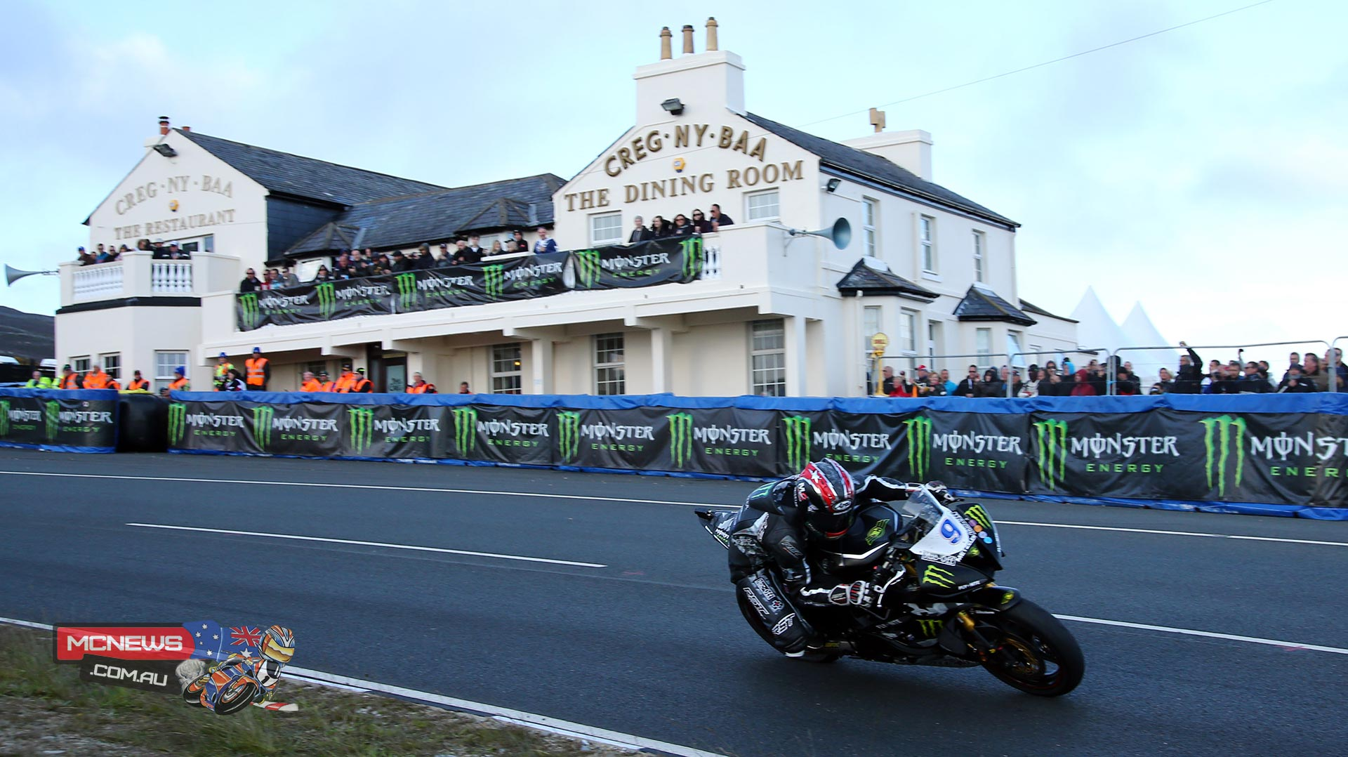 Ian Hutchinson, riding for Team Traction Control Yamaha, took first place in Monster Energy Supersport Race 2 at the 2015 IOM TT