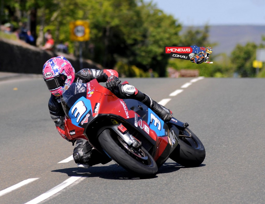Lee Johnston took third place for Victory Motorcycles on their debut in the Isle of Man SES TT Zero challenge. Credit Pacemaker Press Intl.