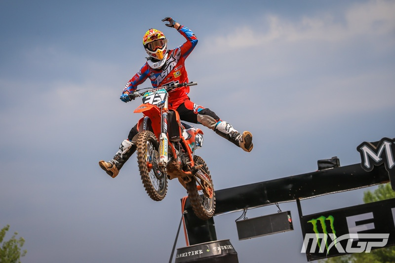 Josiah Natzke went 1-3 at EMX125 in Italy