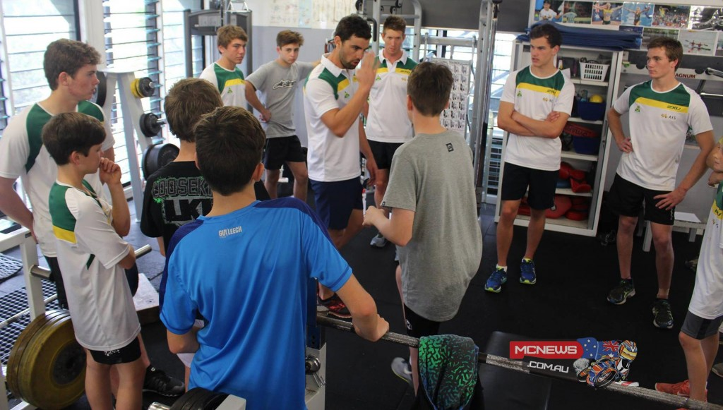 Tim Cole with MA Elite Performance Academy pupils on the Gold Coast