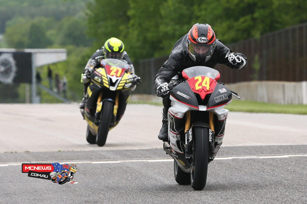 Travis Wyman (24) won the Superstock 600 final over Joe Roberts (27). Photography By Brian J. Nelson.