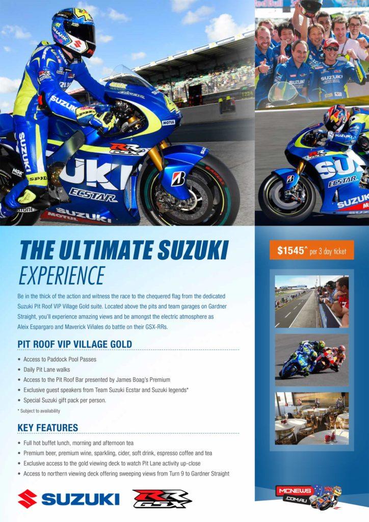 Suzuki VIP MotoGP Tickets Now Available