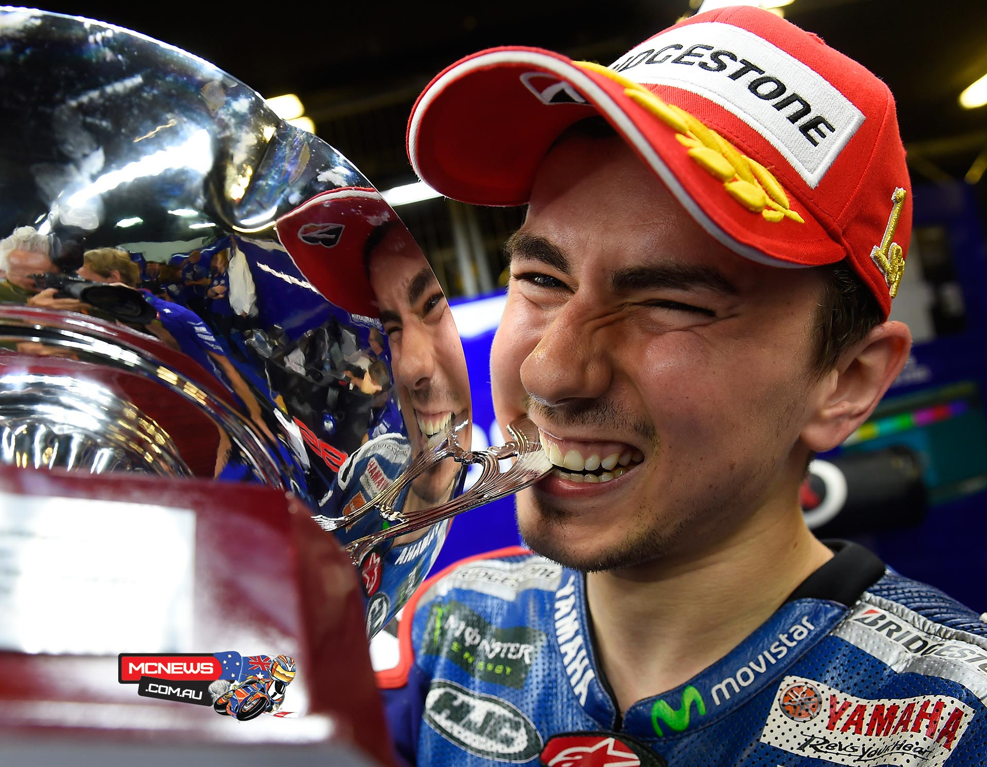 Movistar Yamaha's Lorenzo led from start to finish for the fourth race in succession to close the gap on his teammate Rossi in the standings to just one point.