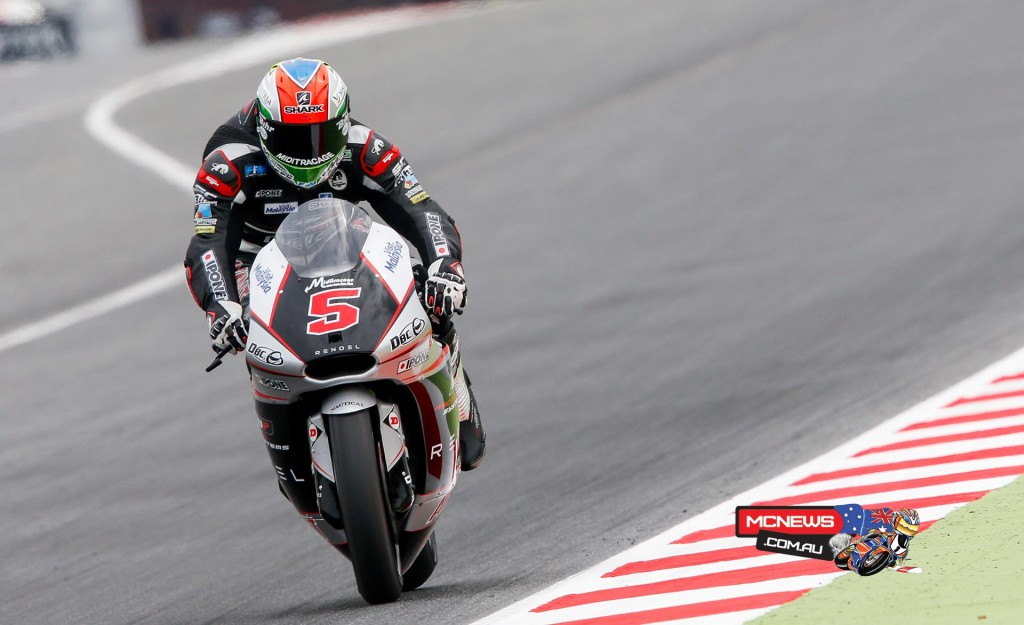 Ajo Motorsport's Johann Zarco claims pole after becoming the first rider to break the 1'46 barrier on a Moto2 bike in Barcelona.