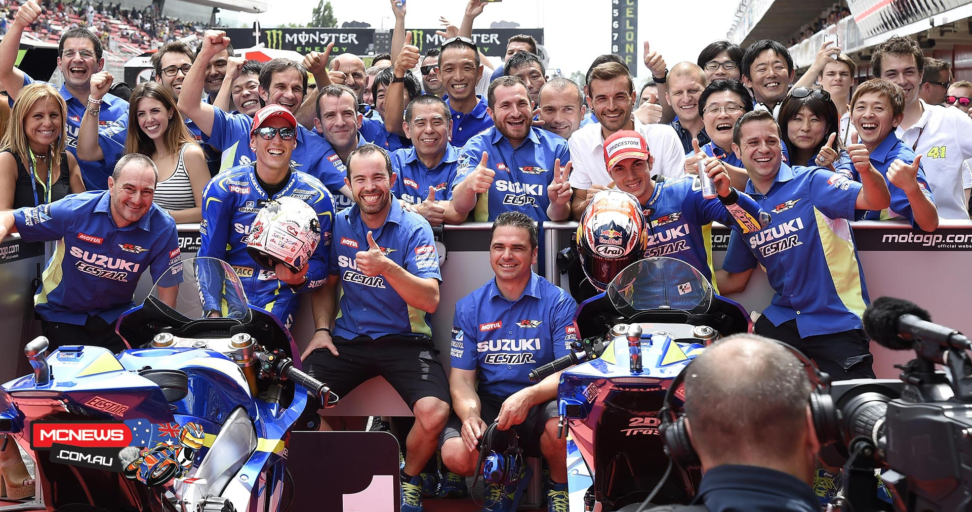 Team SUZUKI ECSTAR grabbed a historic result during qualifying for the Grand Prix of Catalunya as they took first-and second places on the grid with riders Aleix Espargaro and Maverick Viñales.