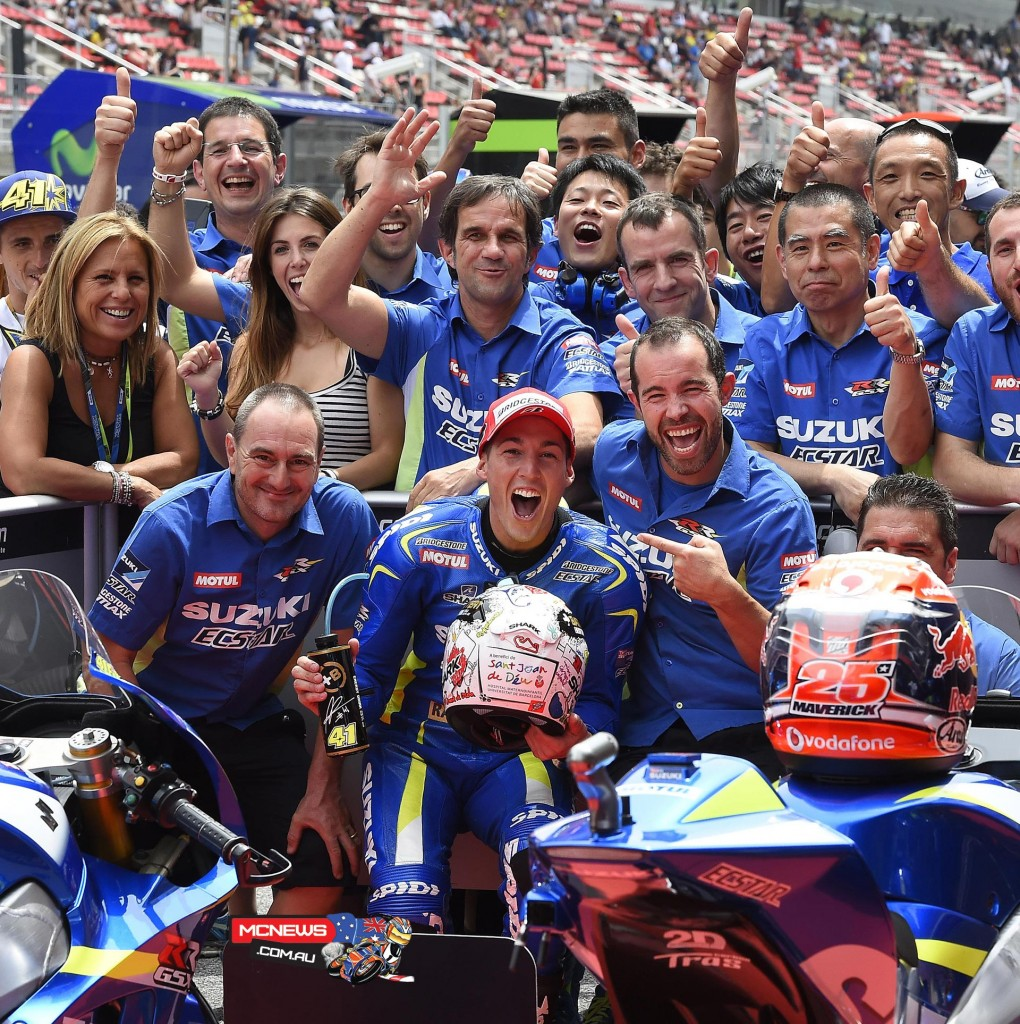 Team SUZUKI ECSTAR grabbed a historic result today during qualifying for the Grand Prix of Catalunya as they took first-and second places on the grid for tomorrow's race with riders Aleix Espargaro and Maverick Viñales.