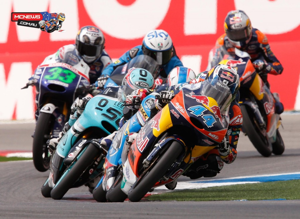 Red Bull KTM Ajo's Miguel Oliveira takes his second Moto3 victory in a sensational race at the Motul TT Assen.