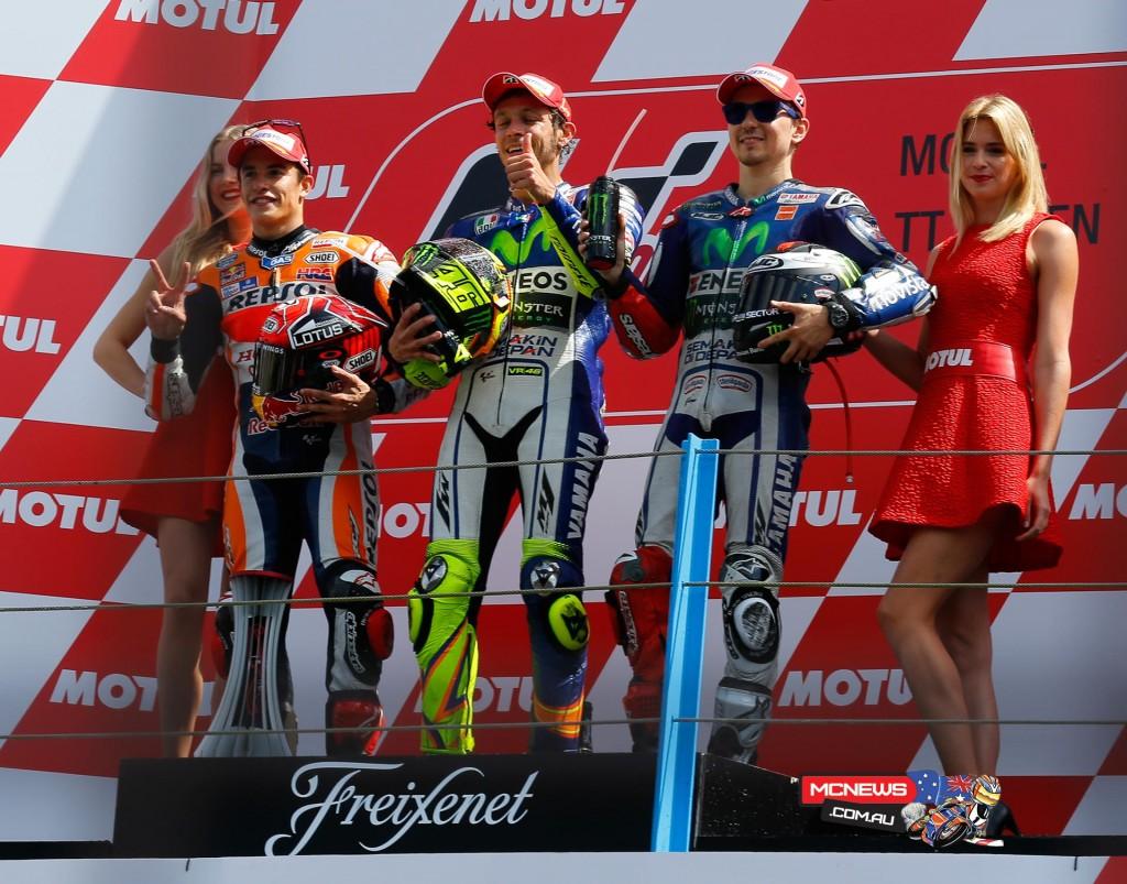 MotoGP Podium Dutch TT Assen MotoGP 2015