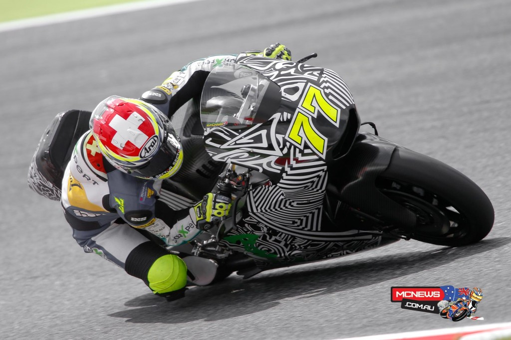 Dominique Aegerter also got some laps in during the Catalunya MotoGP Test