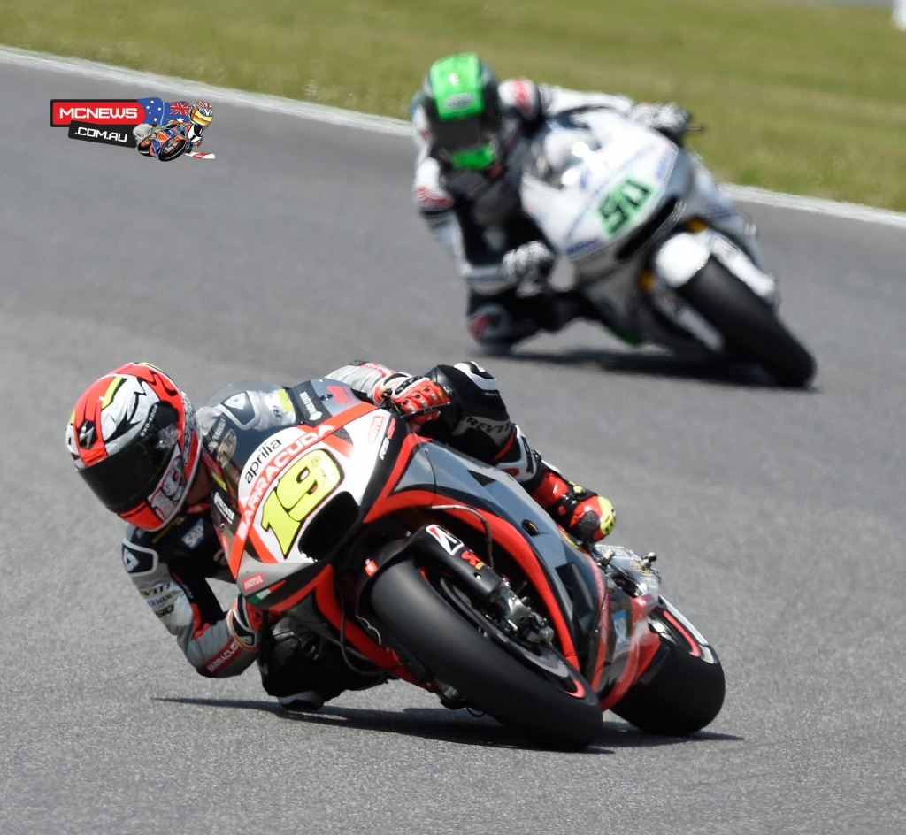 Alvaro Bautista and Eugene Laverty Mugello MotoGP 2015