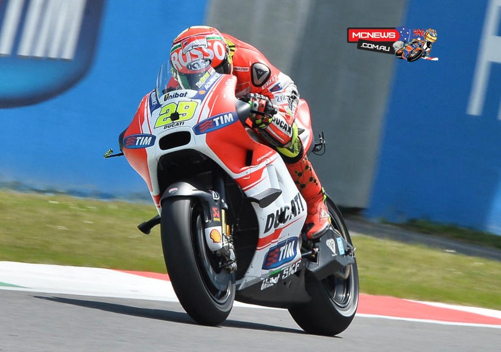 Andrea Iannone claimed his second podium of the season as he rode through the pain after fracturing his humerus at a testing crash in Mugello before the French GP. The Italian delighted his home fans by putting the GP15 on the podium after getting the better of Marquez and holding off Rossi, and has not finished outside the top six this season.