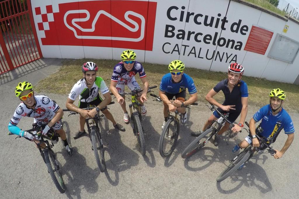 Riders at the Circuit de Barcelona - Catalunya