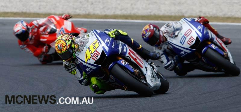 MotoGP 2009 - Catalunya - Valentino Rossi, Jorge Lorenzo, Casey Stoner