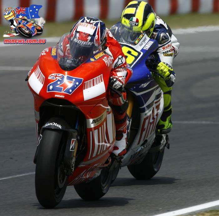 MotoGP 2007 - Catalunya - Casey Stoner and Valentino Rossi