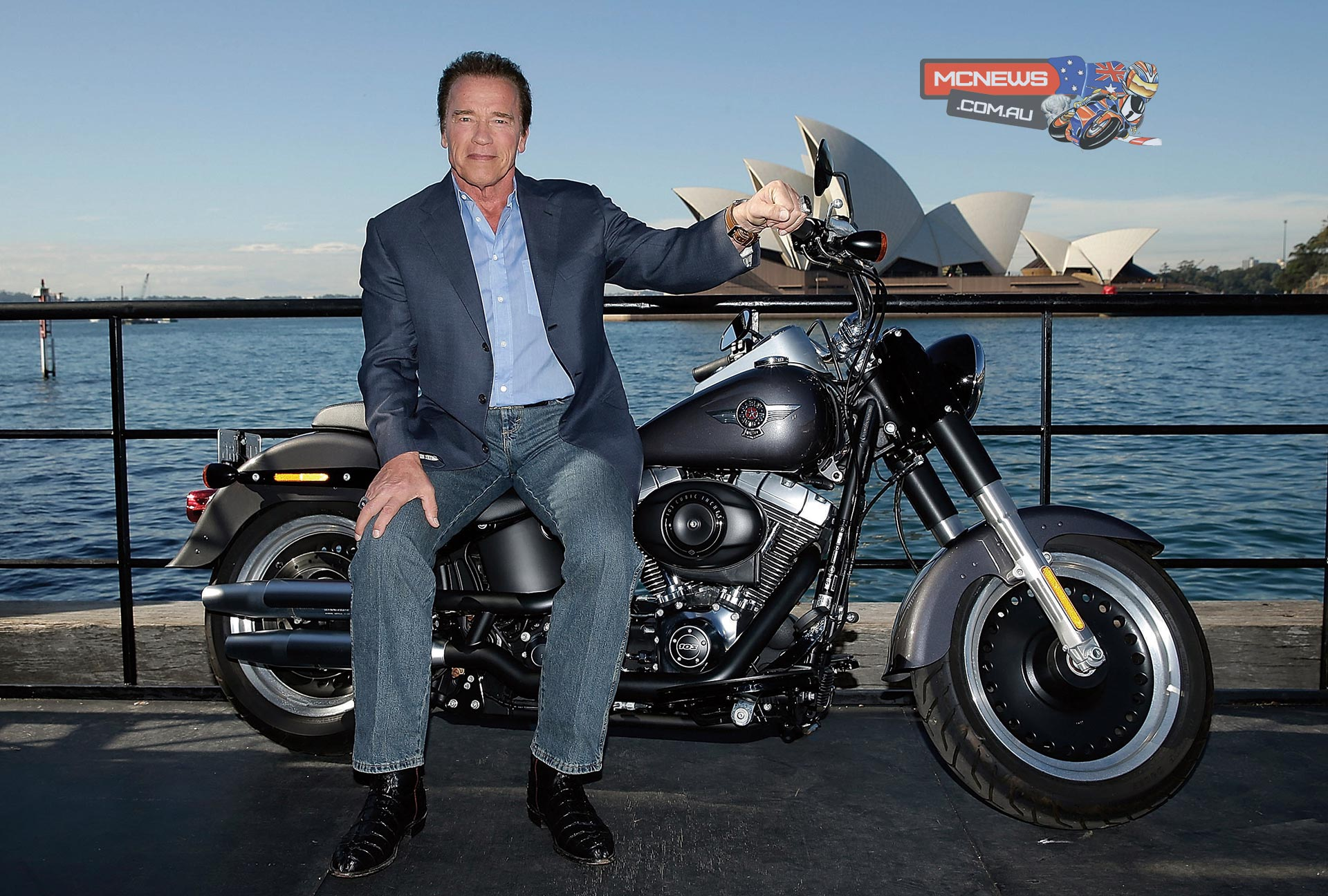 Arnie back with Harley-Davidson Fat Boy for Terminator Genisys