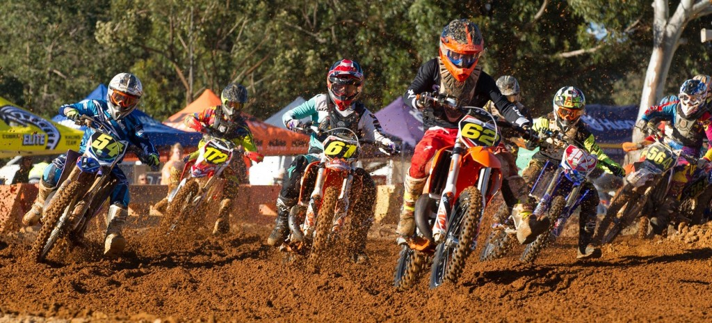Mitch Outram taking the holeshot in WA last weekend