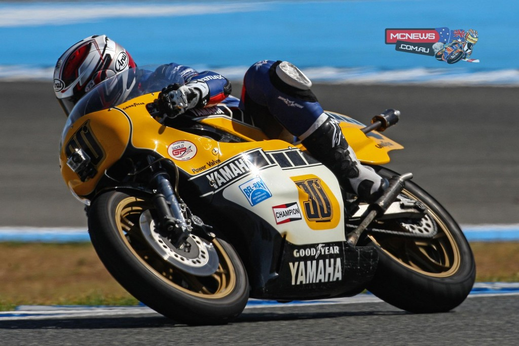 The Kenny Roberts' 1981 Yamaha OW48R was one of the stars of the show at World GP Bike Legends