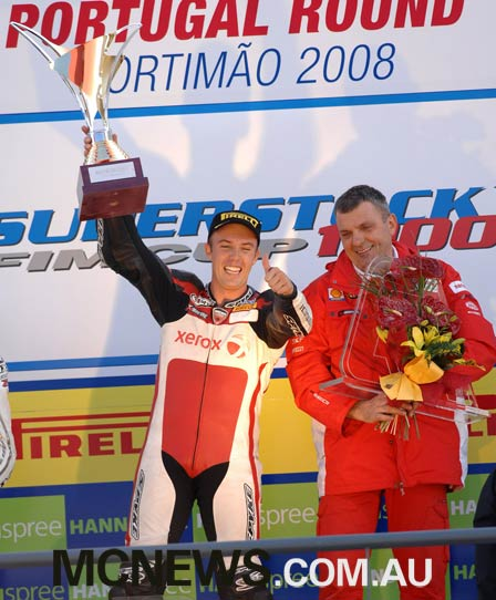 At Portimao seven years ago (2008) young South Australian Brendan Roberts was crowned FIM 1000 Superstock Cup World Champion