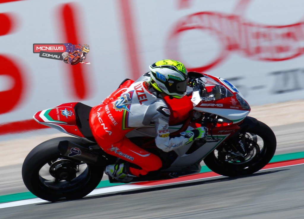 Jules Cluzel dominated the opening day of World Supersport action at Portimao