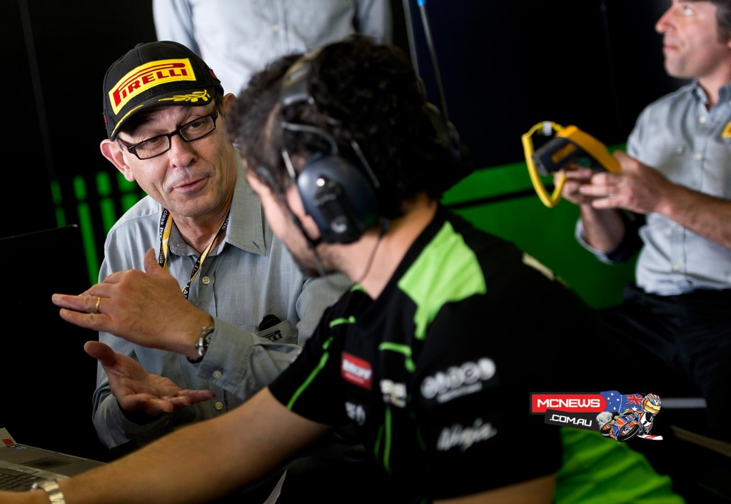WorldSBK 2015 Portimao Test - Pirelli and KRT