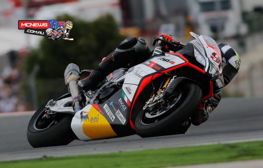 Leon Haslam #91 - Aprilia Racing Team - Red Devils - Race 1 – 12th Race 2 – 3rd