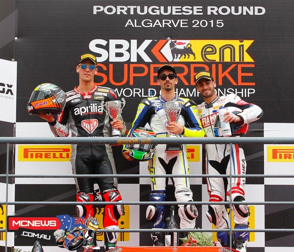 Portimao WorldSBK 2015 - FIM Superstock Podium