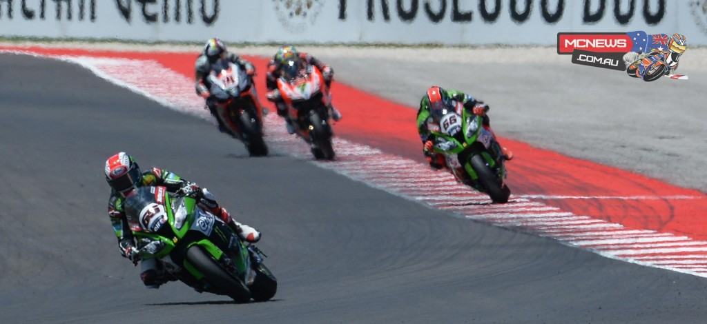 Jonathan Rea extended his championship advantage over Tom Sykes to 133 points - Misano 2015