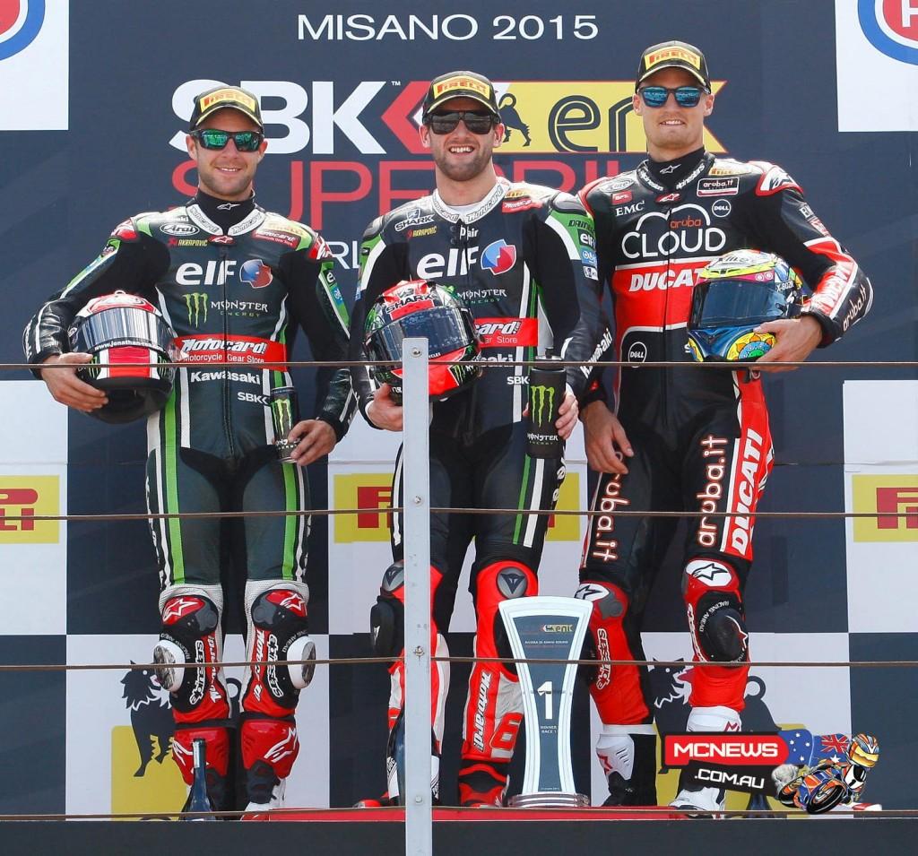 Misano WorldSBK 2015 Race One Podium