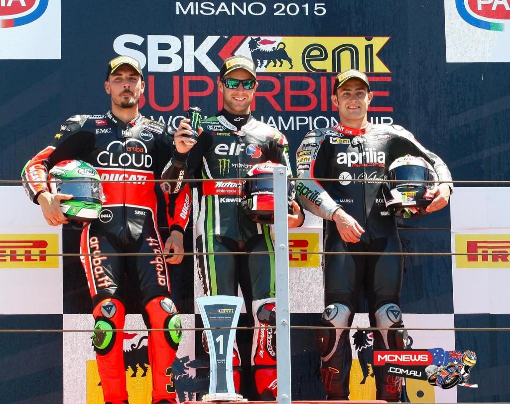 Misano WorldSBK 2015 Race Two Podium