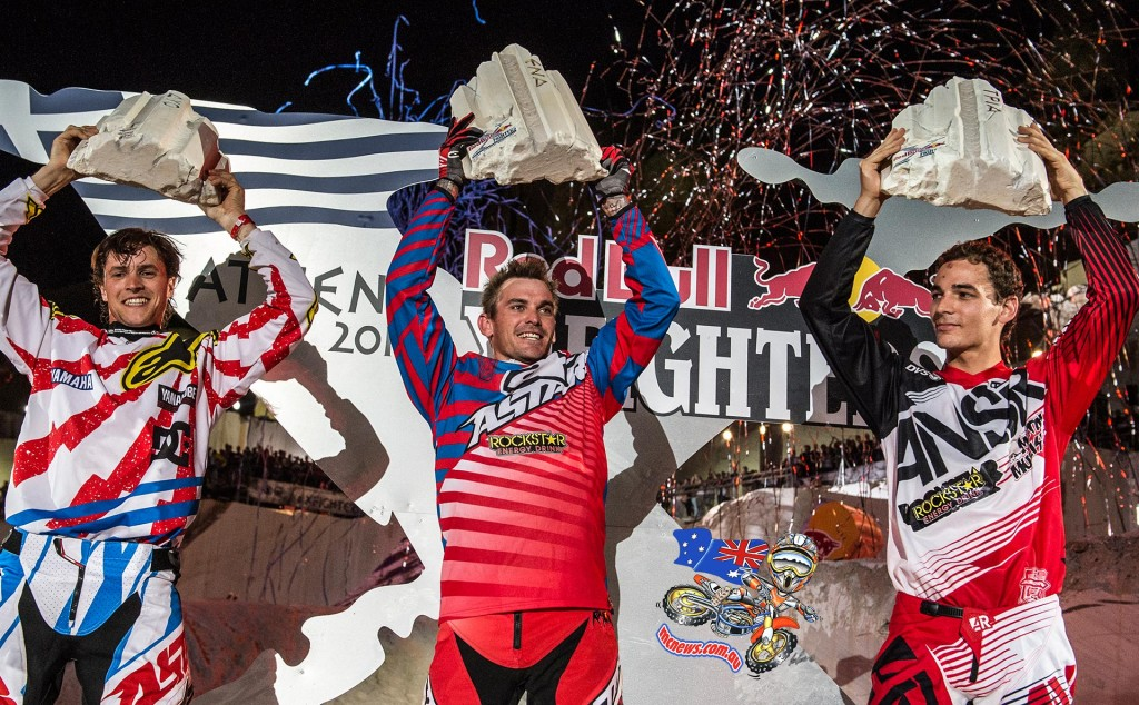 2015 Red Bull X-Fighters World Tour Athens - Clinton Moore, Rob Adelberg, Thomas Pages