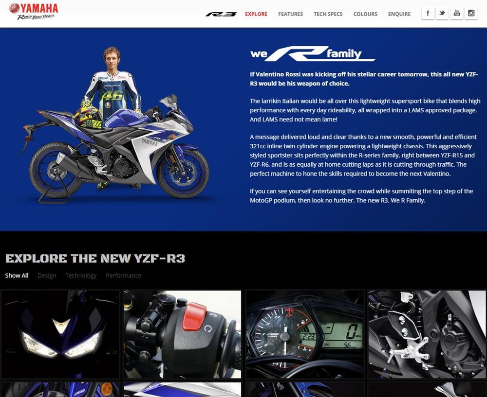 Yamaha YZF-R3 Microsite