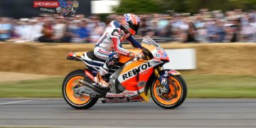 Casey Stoner rode the famous Goodwood 1.16-mile hill climb aboard a Repsol Honda MotoGP machine at the 2015 Goodwood Festival of Speed