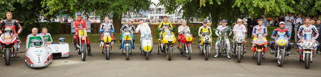 A few of the champions in attendance at the 2015 Goodwood Festival of Speed