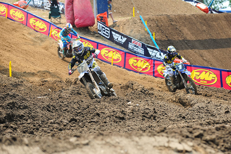 Webb grabbed the lead from Martin in Moto 1 but eventually reliquished it. (Photo: Amy Schaaf)