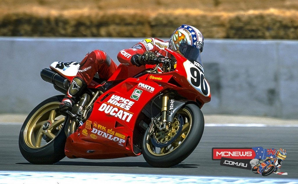 Ben Bostrom won race two at Laguna Seca 1999 after Gobert took race one