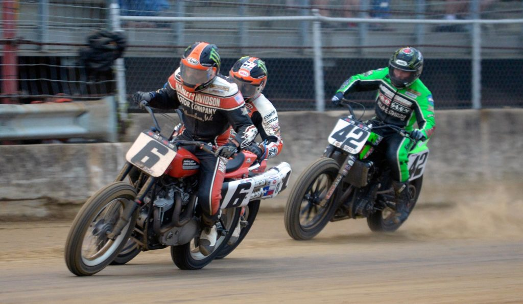 Brad Baker scored his first career victory on a Mile course on Saturday night, winning the coveted Indy Mile at the Indiana State Fairgrounds in thrilling fashion