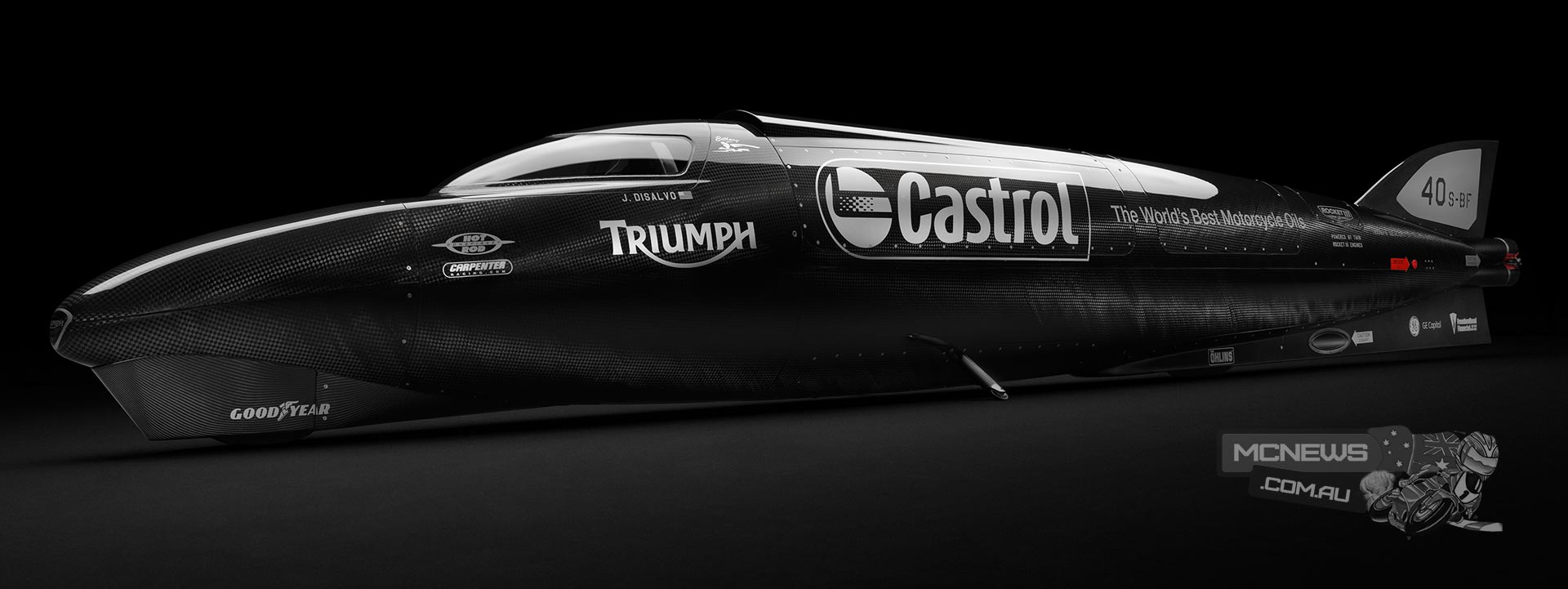 Guy Martin to pilot world speed record attempt on Triumph Rocket III Streamliner powered by two 2.3-litre Triumph Rocket III engines, producing 1,000 hp
