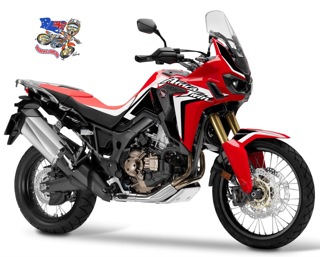 The Honda Africa Twin in Rally Red