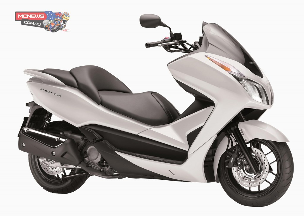 Honda's mid-size, sporty scooter, the Forza 300, is ideal for commuter trips, weekend tours and everything in between.