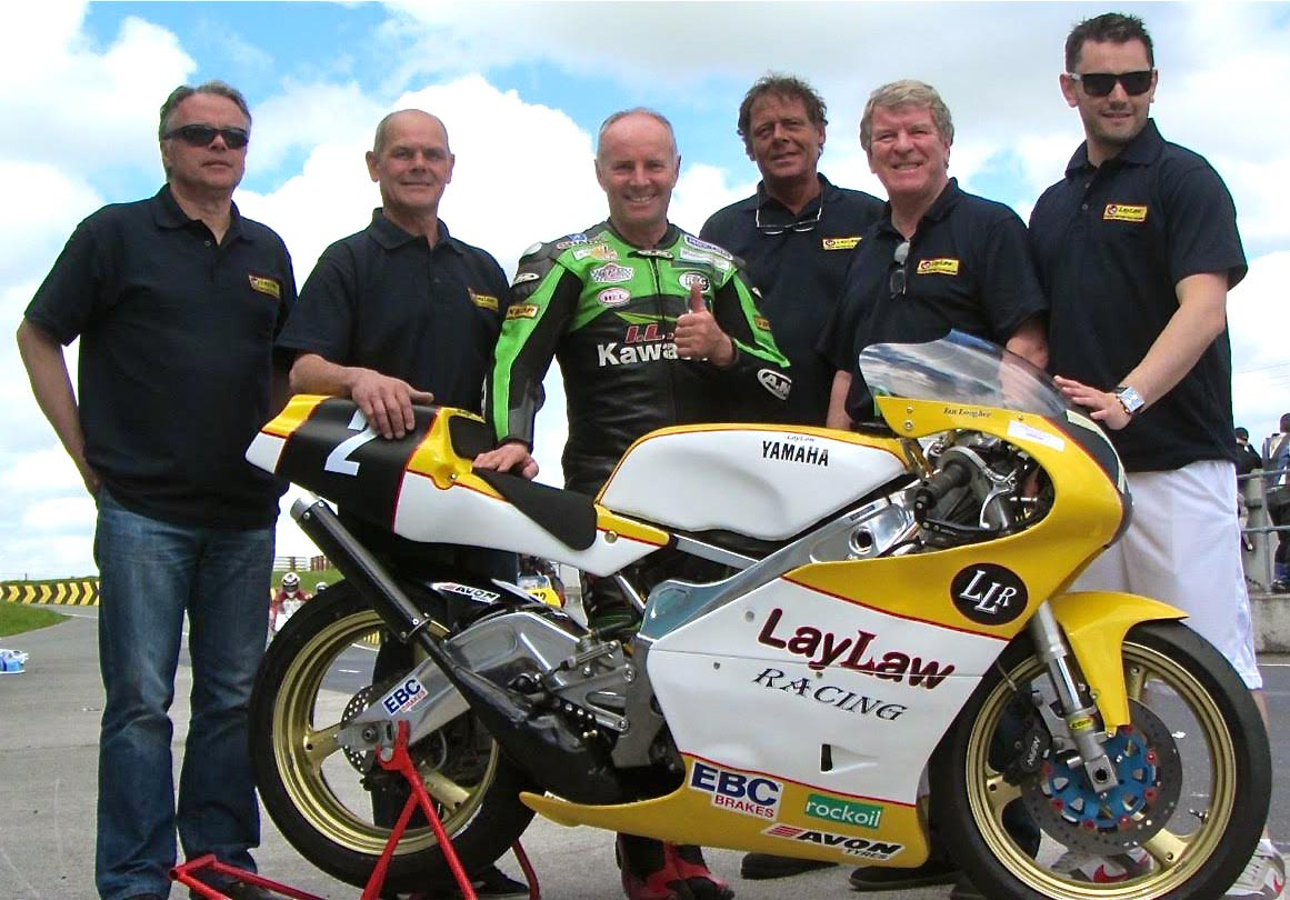 Ian Lougher with the LayLaw bike and team
